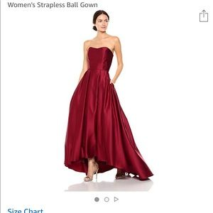 Betsy & Adam Strapless Ball Gown/Prom Dress